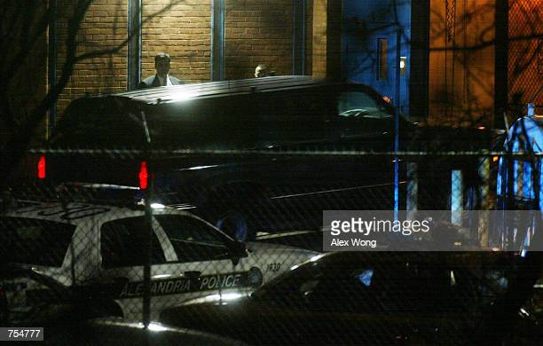 A vehicle containing American Taliban John Walker Lindh enters the Alexandria Detention Center under high security January 23 2002 in Alexandria...