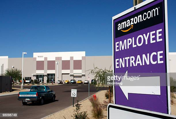 A vehicle enter the Amazoncom Phoenix Fulfillment Center parking lot in Goodyear Arizona US on Monday Nov 16 2009 Seattlebased Amazoncom which...