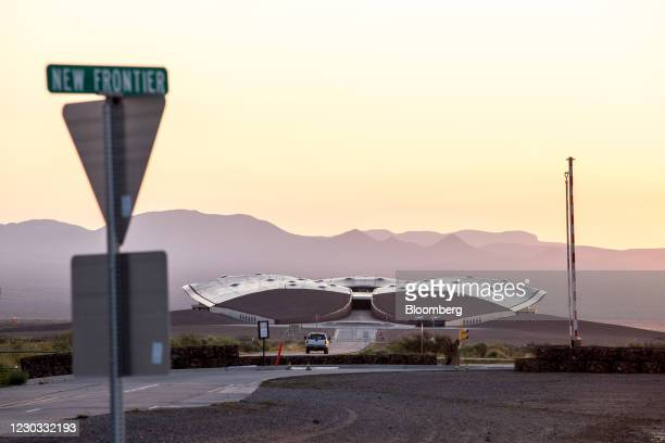Vehicle enters Spaceport America in Truth or Consequences, New Mexico, U.S., on Wednesday, Sept. 16, 2020. Virgin Galactic announced this year that...