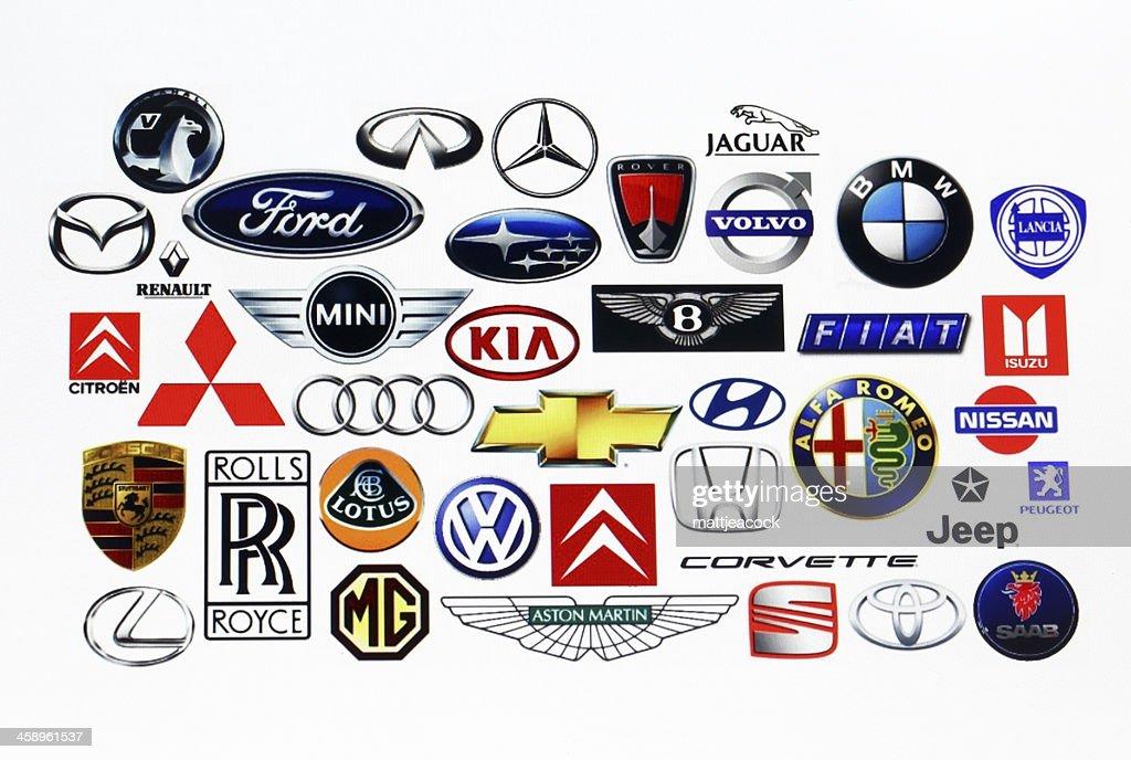 Logotipos Fabricante de veículos : Foto de stock