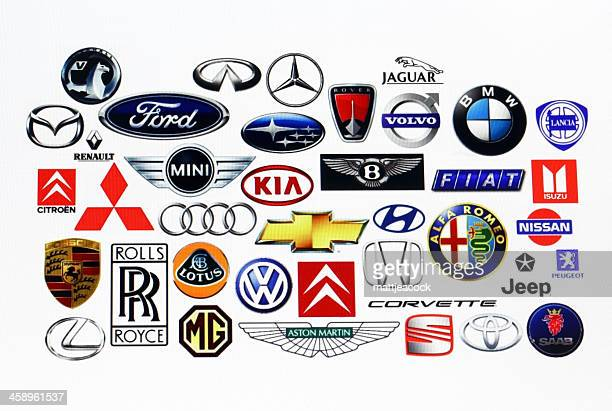 vehicle manufacturer logos - mitsubishi logo stock pictures, royalty-free photos & images