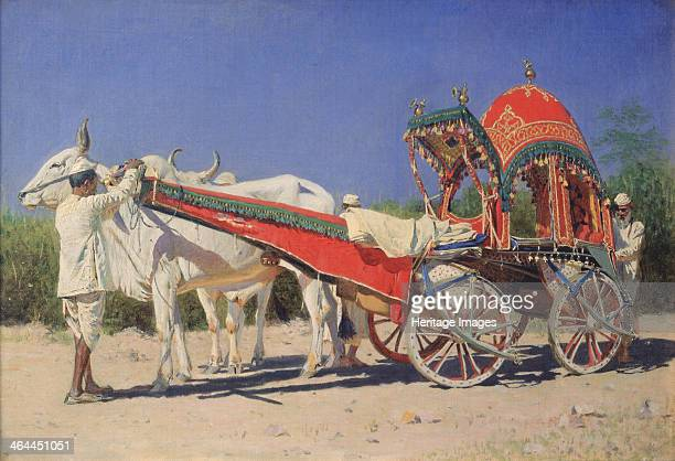 Vehicle of a Rich Family in Delhi 18741876 Found in the collection of the State Tretyakov Gallery Moscow