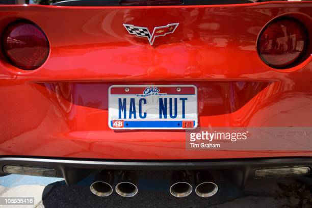 Vehicle registration plate Mac Nut on vehicle in Anna Maria Island United States of America