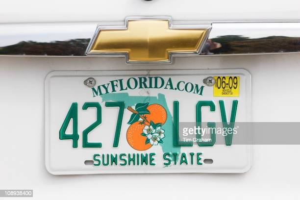 Vehicle registration plate on vehicle in Anna Maria Island United States of America
