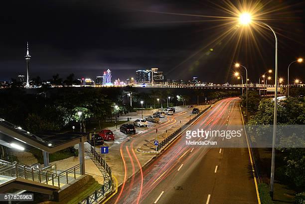 Vehicle Traffic light Trail in Macau