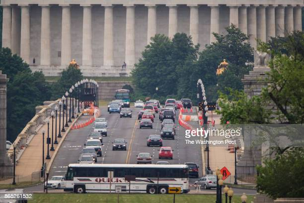 Vehicles are seen crossing the Arlington Memorial Bridge in Arlington VA on Friday May 29 2015 Congresswoman Eleanor Holmes Norton who serves as...
