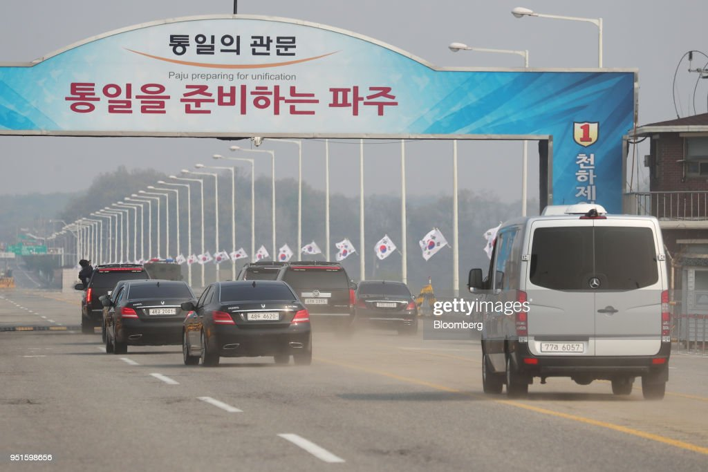 The Inter-Korean Summit As Leaders of the Two Koreas Meet At the Border