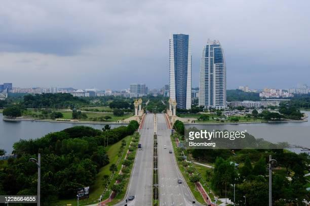Vehicles cross the Seri Gemiland Bridge in Putrajaya Malaysia on Wednesday Sept 23 2020 Malaysias Prime Minister Muhyiddin Yassin urged people to...