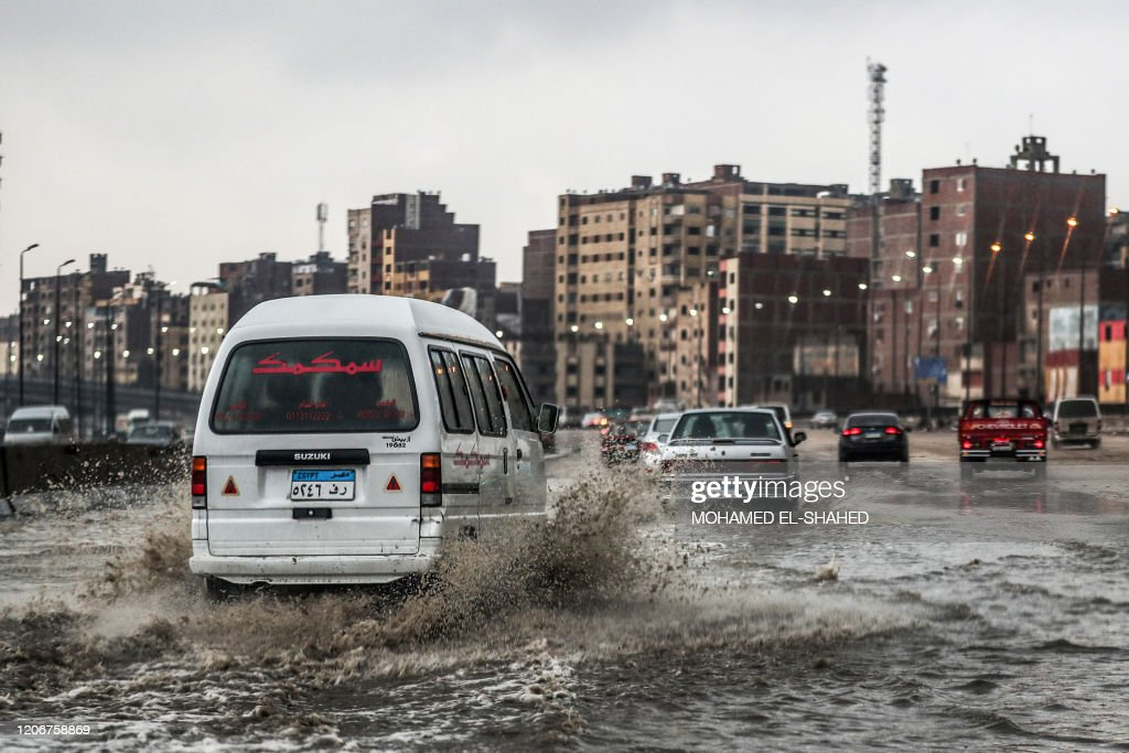 EGYPT-WEATHER-STORM : Foto di attualità