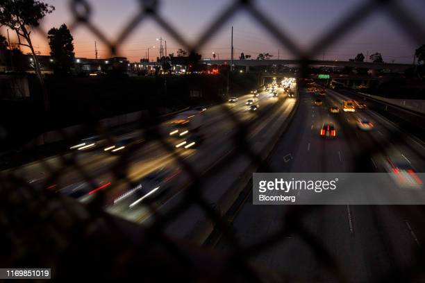 Vehicles drive in traffic down the 405 freeway at night in Inglewood, California, U.S., on Thursday, Sept. 19, 2019. TheTrumpadministration moved...
