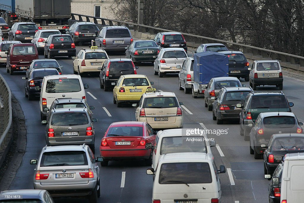 Vehicles drive on a highway on February 7, 2007 in Berlin, Germany. The European Commission announced new carbon dioxide (CO2) targets for car makers which the European Automobile Manufacturers Association said it could not agree with, stating they are 'unbalanced and damaging to the European economy in terms of wealth, employment and growth potential.'