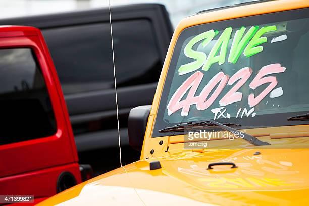 Vehicles for Sale on Dealership Lot