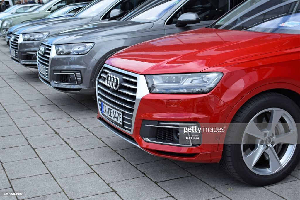 SUV vehicles from Audi on the parking : Stock Photo