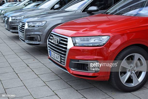 SUV vehicles from Audi on the parking