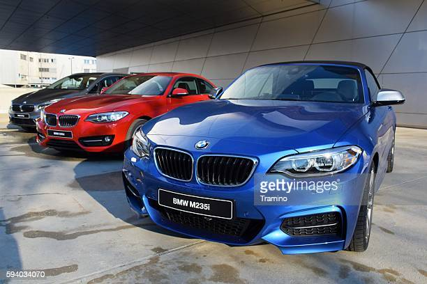 BMW vehicles in a row