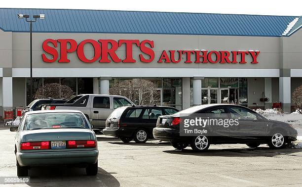Vehicles lie parked outside a Sports Authority store January 24 2006 in Niles Illinois Sports Authority has announced that it has reportedly entered...