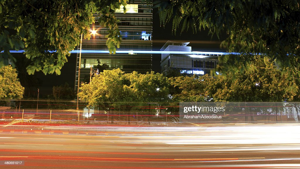 Vehicles Light Trails : Stock Photo