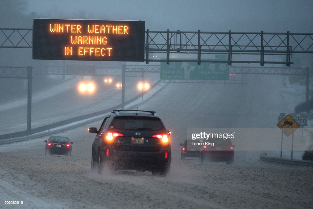 Southern States First To Feel Effects Of Massive Winter Storm : News Photo