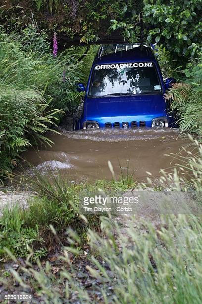 Vehicles navigate the elements at Off Road NZ a sustainable premium adventure four wheel driving experience Off Road NZ is located on a beautiful NZ...