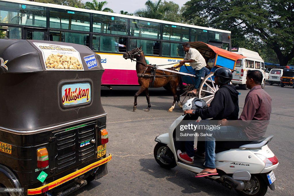 Vehicles of all sorts are seen on the roads of Mysore  News Photo