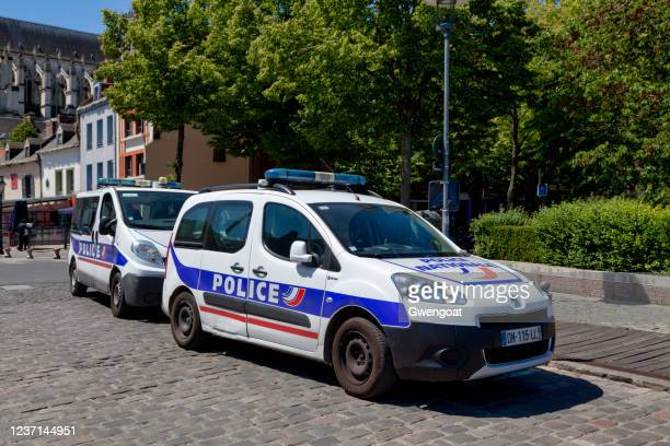 vehicles of the police nationale - gwengoat stock pictures, royalty-free photos & images