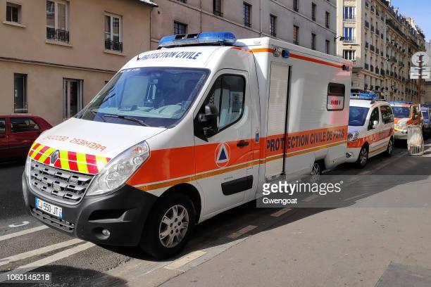 Vehicles of the Protection Civile de Paris