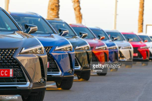 suv vehicles on the parking - toyota motor co stock pictures, royalty-free photos & images
