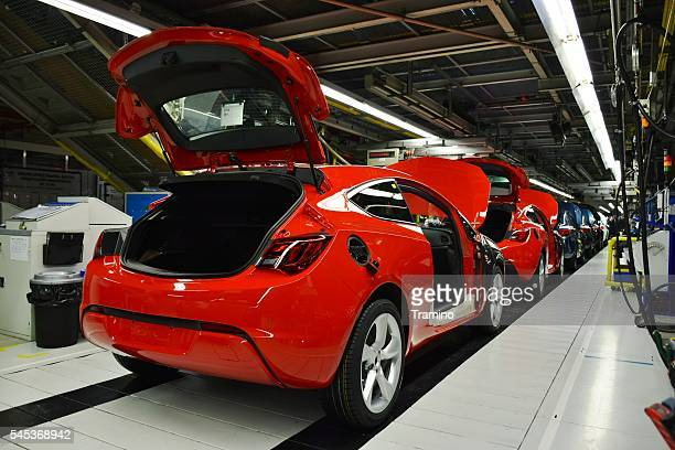 Vehicles on the production line