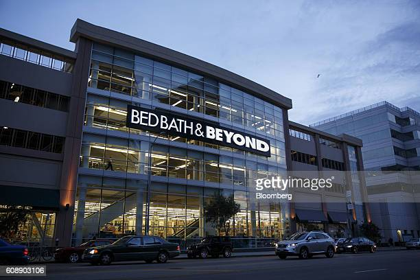 Vehicles pass in front of a Bed Bath & Beyond Inc. Store in Los Angeles, California, U.S., on Monday, Sept. 19, 2016. Bed Bath & Beyond Inc. Is...