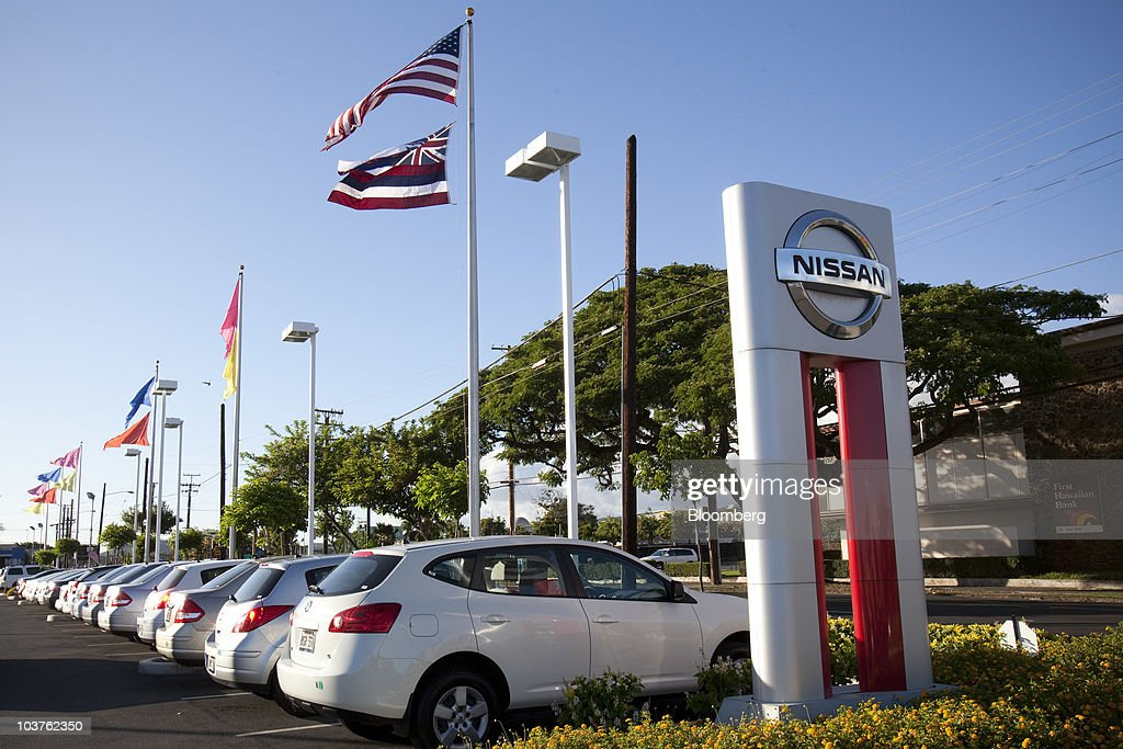 Vehicles Sit On The Lot At The New City Nissan Dealership In Honolulu,  Hawaii,