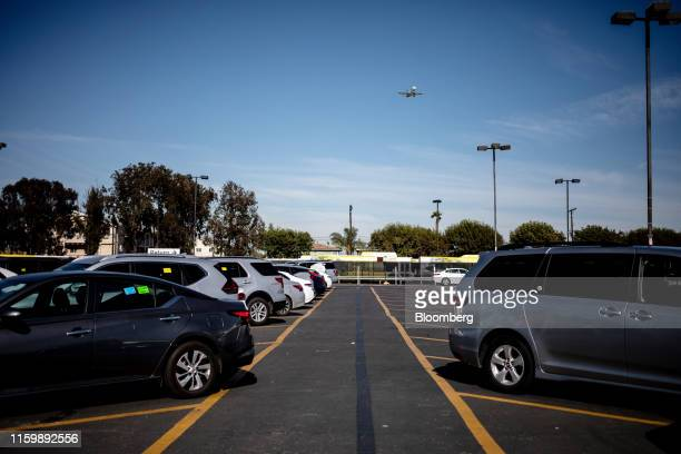 Vehicles sit parked at a Hertz Global Holdings Inc. Rental location at Los Angeles International Airport in Los Angeles, California, U.S. On Friday,...