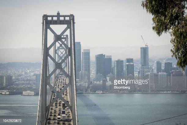 Vehicles travel on the OaklandSan Francisco Bay Bridge in San Francisco California US on Thursday Sept 27 2018 Last month the Environmental...