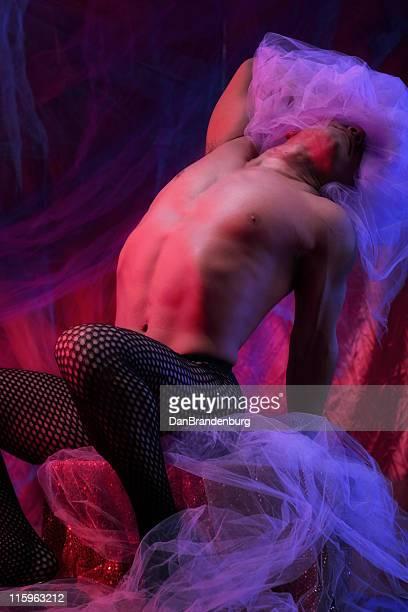 schleier - burlesque striptease stock-fotos und bilder