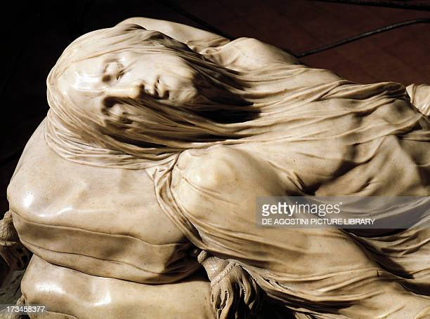 Veiled Christ by Giuseppe Sammartino , marble sculpture. Detail. Italy, 18th century.
