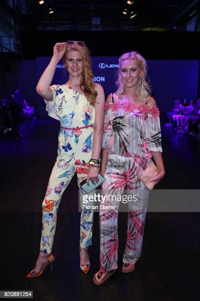 Veit Alex and Nina Bauer attend the 3D Fashion Presented By Lexus/Voxelworld show during Platform Fashion July 2017 at Areal Boehler on July 22, 2017...