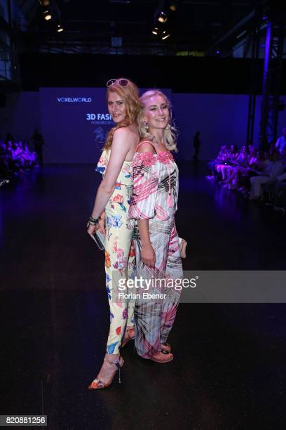 Veit Alex and Nina Bauer attend the 3D Fashion Presented By Lexus/Voxelworld show during Platform Fashion July 2017 at Areal Boehler on July 22 2017...