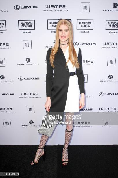 Veit Alex attends the AMD Exit18 show during Platform Fashion January 2018 at Areal Boehler on January 27 2018 in Duesseldorf Germany