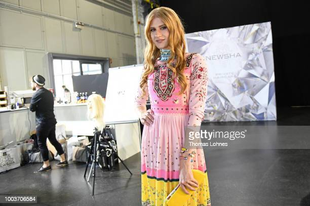 Toni DreherAdenuga and Veit Alex attend the Kids Fashion show during Platform Fashion July 2018 at Areal Boehler on July 22 2018 in Duesseldorf...