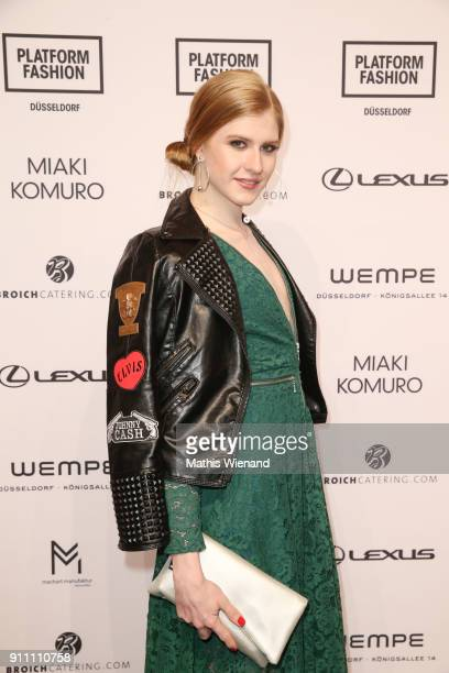 Veit Alex attends the 'The NRW Design Issue' show during Platform Fashion January 2018 at Areal Boehler on January 27 2018 in Duesseldorf Germany