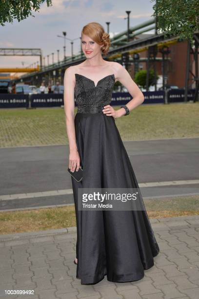 Evelyn Burdecki attends the Unique show during Platform Fashion July 2018 at Areal Boehler on July 21 2018 in Duesseldorf Germany