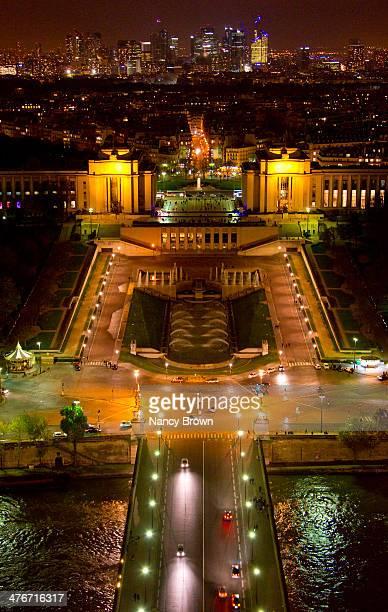 Veiw from Above Palais De Chaillot & Trocadero.