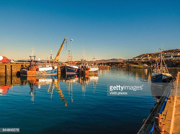 veiws over mallaig harbour, scotland - mallaig stock photos and pictures