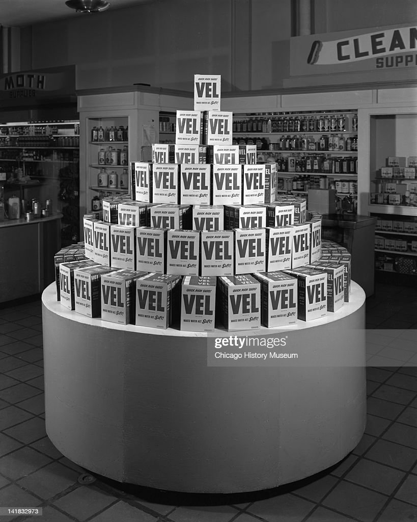 Vel Detergent Display At Marshall Field & Company : News Photo