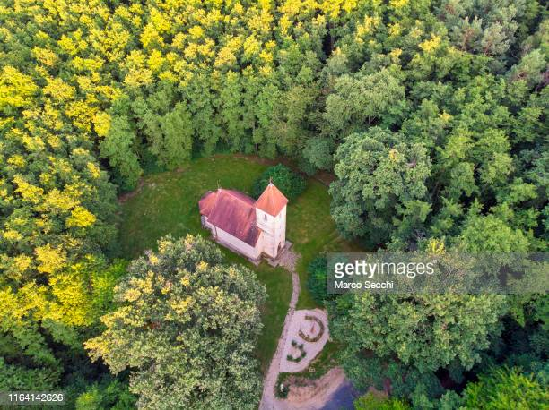 velemer hungary holy trinity church - marco secchi stock photos and pictures