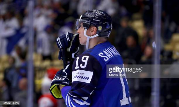 Veli Matti Savinainen of Finland looks dejected after the 2018 IIHF Ice Hockey World Championship Quarter Final game between Finland and Switzerland...