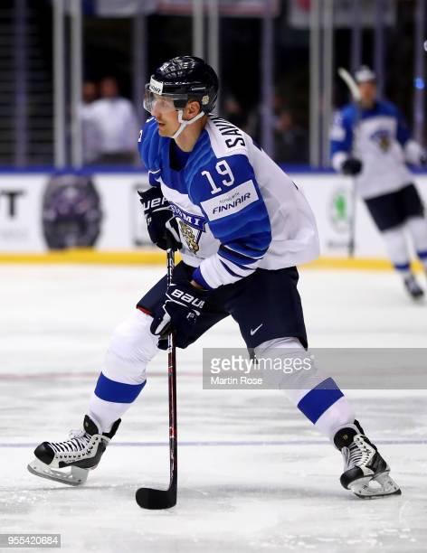 Veli Matti Savinainen of Finland skates against Latvia during the 2018 IIHF Ice Hockey World Championship group stage game between Latvia and Finland...