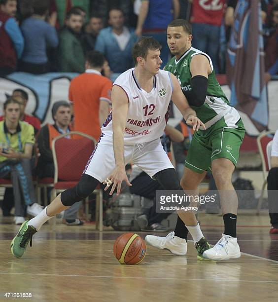 Velickovic Novica of Trabzonspor Medical Park in action during the FIBA EuroChallenge Final Four basketball match between Trabzonspor Medical Park...