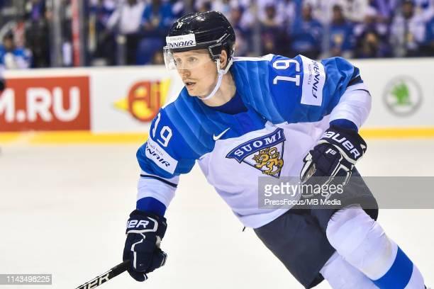 Veli-Matti Savinainen of Finland looks on during the 2019 IIHF Ice Hockey World Championship Slovakia group A game between United States and Finland...