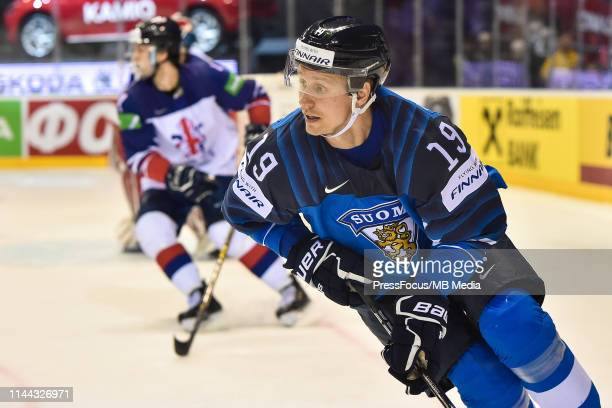 Veli-Matti Savinainen of Finland looks on during the 2019 IIHF Ice Hockey World Championship Slovakia group A game between Finland and Great Britain...