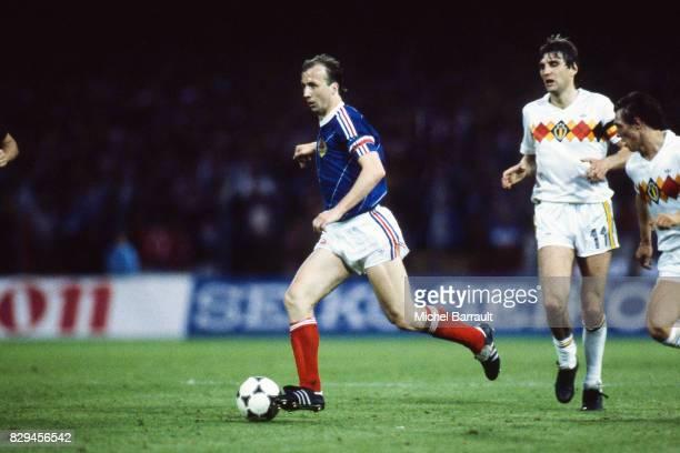 Velimir Zajec of Yugoslavia during the European Championship match between Belgium and Yugoslavia at La Meinau in Strasbourg France on 13th June 1984